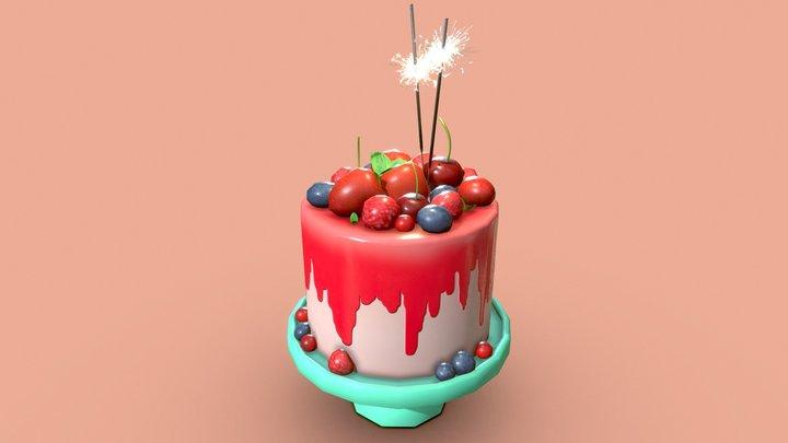 Berry Cake! 3D Model