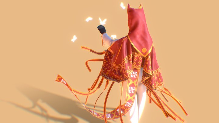 Journey - character clothing concept 3D Model