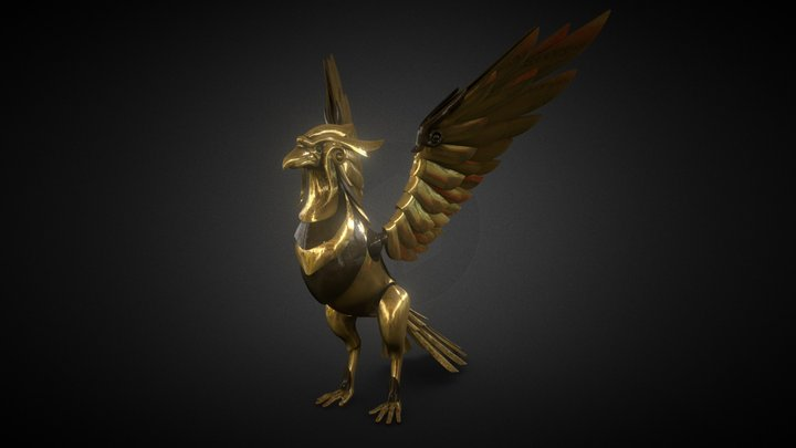 Mechanical Phoenix 3D Model
