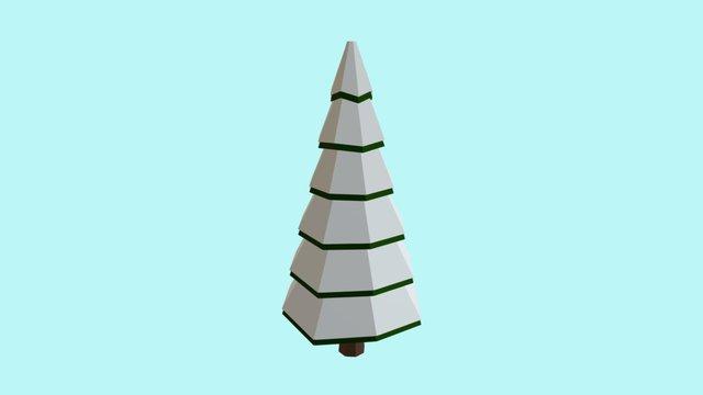 Tree(Snow) Low Poly 3D Model