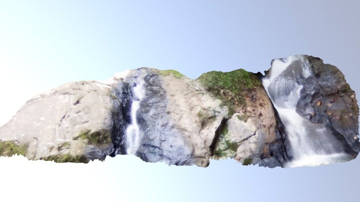 Campo Dos Ouros Waterfall. 3D Model