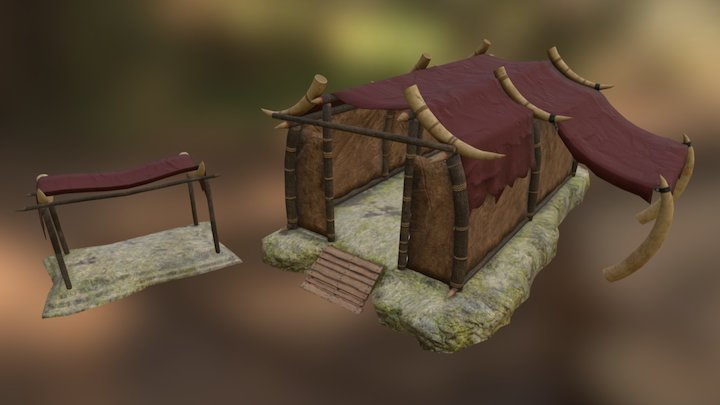 Orcs Settlement - Storage 3D Model