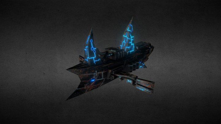 Split SMMORPG Mutants Assault Ship 3D Model