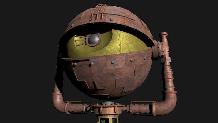 Eye Statue 3D Model