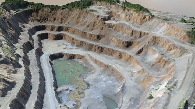 Andezitbánya - andesite quarry 3D Model