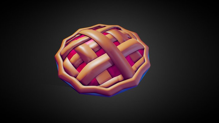 Delicious Low poly Pie 3D Model