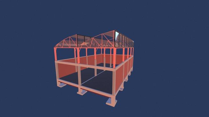 ESTRUCTURA DIENTE DE SIERRA 3D Model