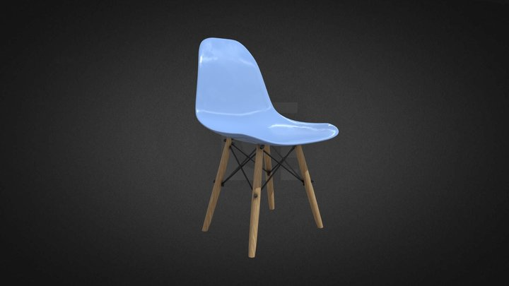Tower Chair Wooden Hire 3D Model