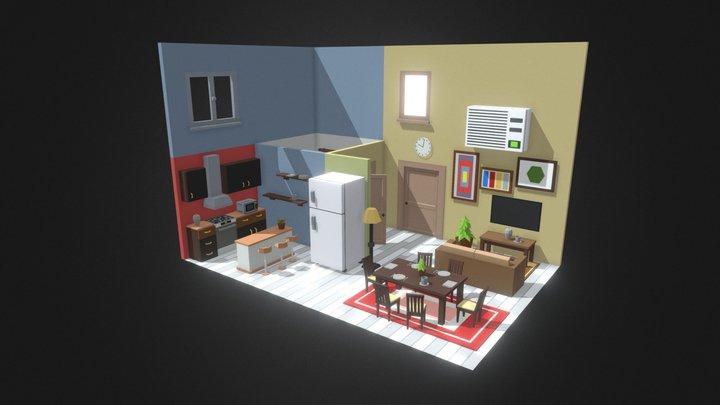 Simpoly_Room_#1 3D Model