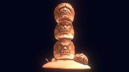 Tiki Pumpki 3D Model