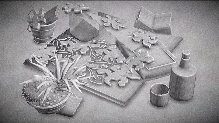 Tribute to M.C. Escher 3D Model