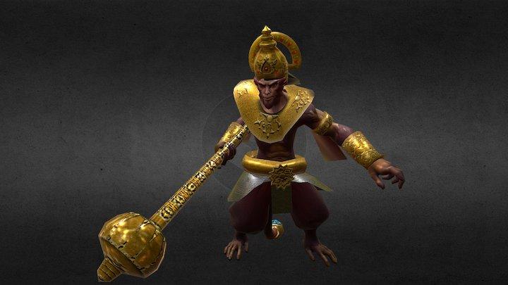 MK Hanoman Hindu 3D Model