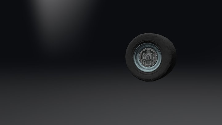Wheel Assembly Animated 3D Model