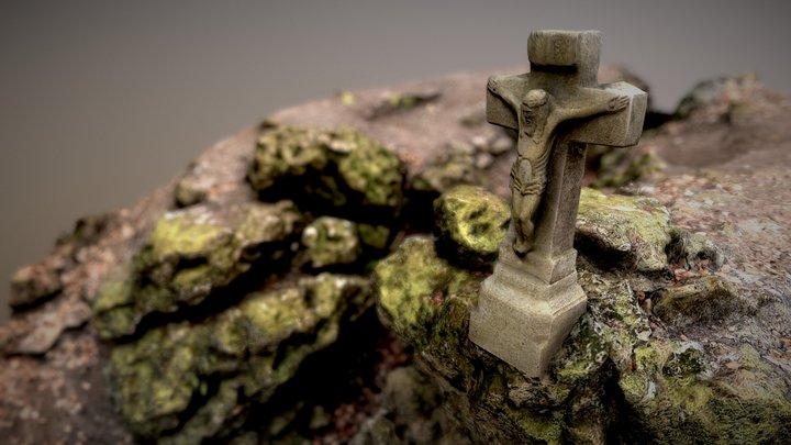 Dry Waterfall with Cross [3DScan] 3D Model