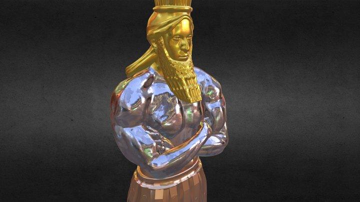 Nebuchadnezzar's Statue - MultiMaterial 3D Model