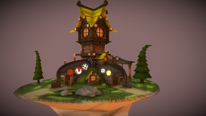 That boaty viking building 3D Model