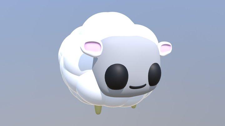 Chibi Sheep 3D Model