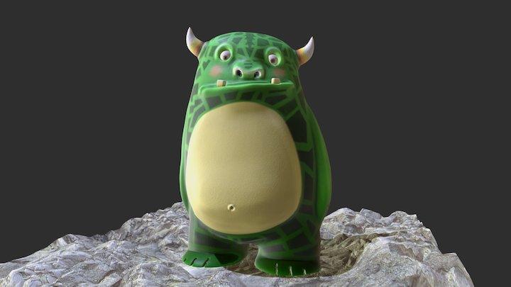 Shy monster 3D Model