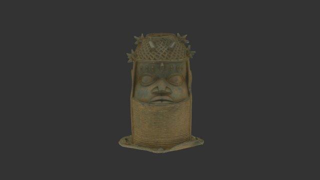 Bronze cast of a head, Edo, Nigeria 3D Model