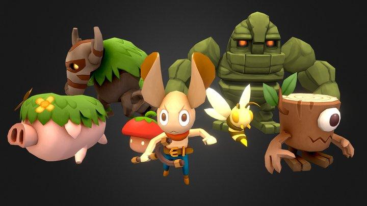 Minions Series - Monsterset 1 3D Model