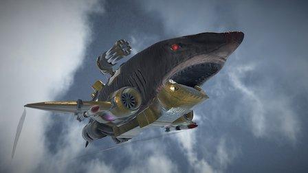 Flying Robot Shark [Animated] 3D Model
