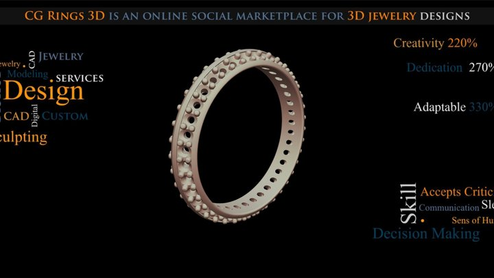 3D CAD Eternity Band Ring - Free 3D Model 3D Model