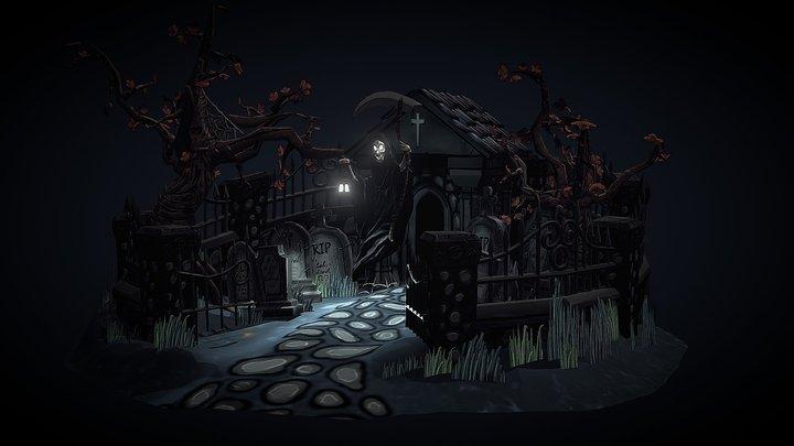 Monster Garden - Graveyard 3D Model