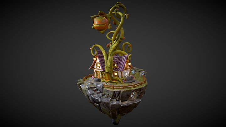 The Wizard's Enigmatic Cabin 3D Model