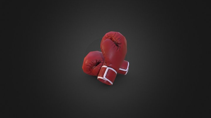 Lowpoly Gloves 3D Model