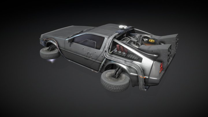 Ready Player One - Parzival's Delorean 3D Model