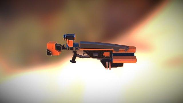 Gun Sketch Fab 3D Model