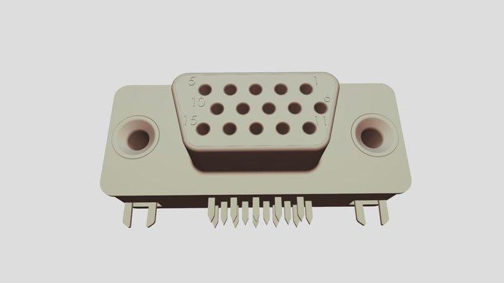 DB15 pour bus VGA 3D Model