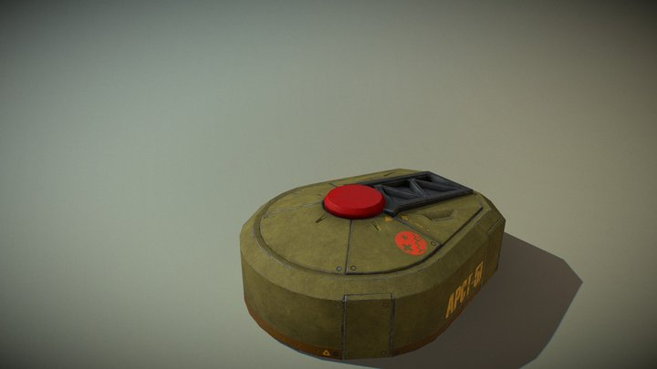 Portable Turret 3D Model