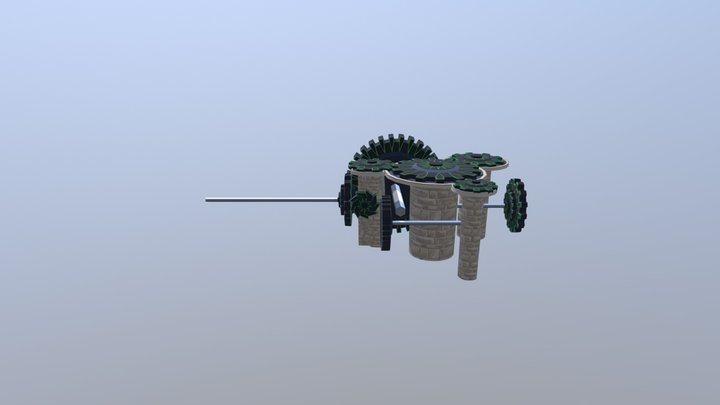 NHAF Cogwheel map 3D Model