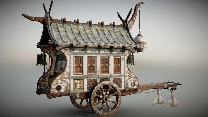 The Samurai Cart 3D Model