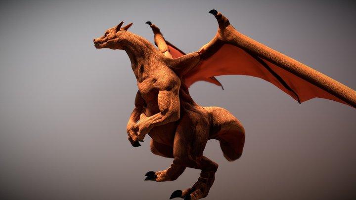 Charizard Fanart 3D Model
