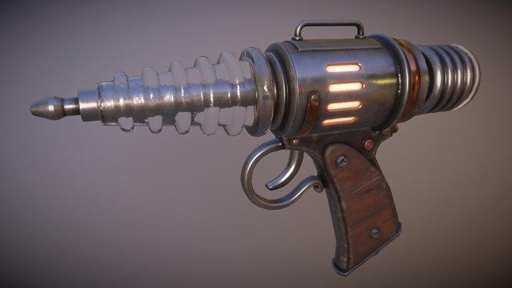 Retro-Futuristic Ray Gun 3D Model