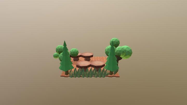 Wooden Cafe 3D Model
