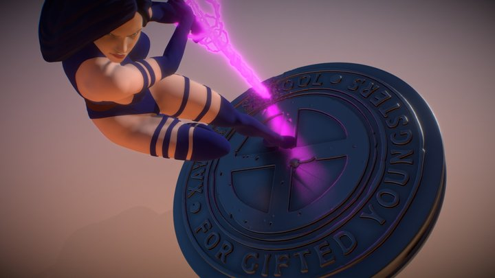Psylocke from X-men - STL Ready 3D Model