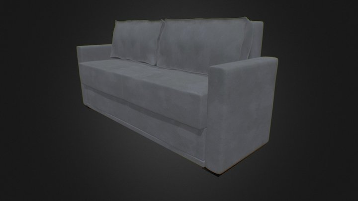 Simple Couch 3D Model