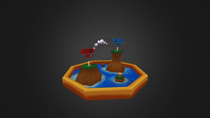 WormsDiorama_2.obj 3D Model