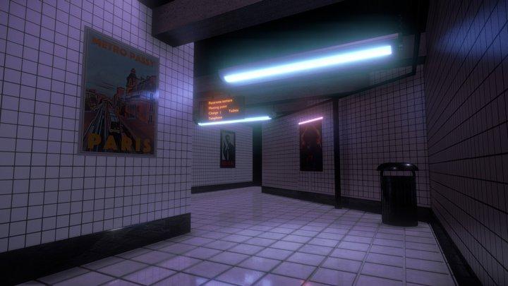Metro/Subway Station Interior 3D Model