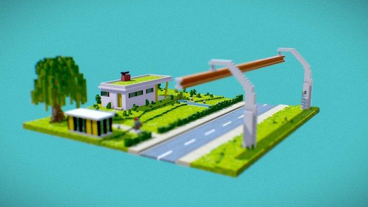 50s house 3D Model