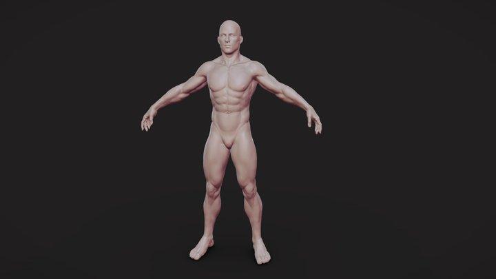 Male Body 01 3D Model