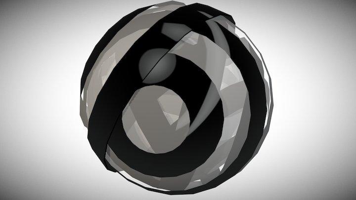 op-art spherical motion 3D Model