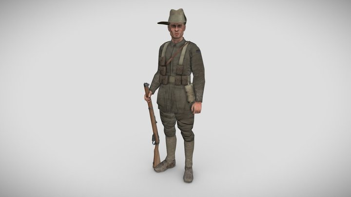 A soldier of the 1st ANZAC division 3D Model