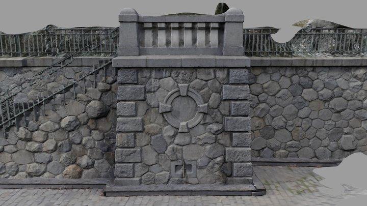 Embankment Výtoň, Prague 3D Model