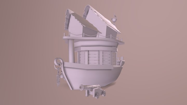 pirate's house 3D Model
