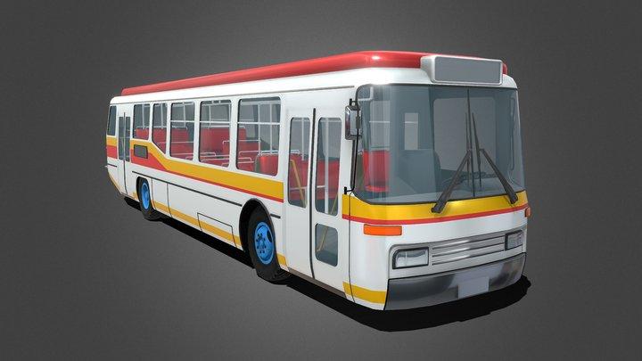 Generic Town Bus 3D Model