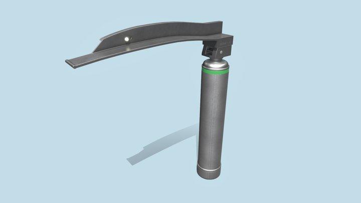 Laryngoscope - Generic Miller-style Blade 3D Model